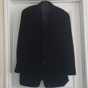 Black Men's Velour Sports Coat/Blazer